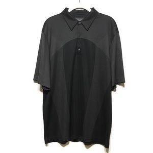 Greg Norman Play Dry Black Golf Polo Shirt